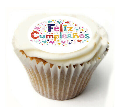 Cake Topper Birthday Feliz Cumpleaños personal Rice paper,Icing fondant Sheet