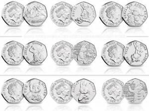 2017-2018-2019-BU-50p-Fifty-Pence-Coins-Beatrix-Potter-Paddington-Bear-Snowman