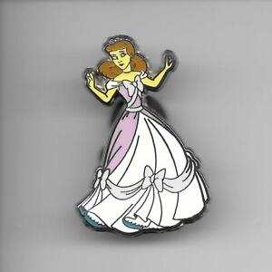 Disney-Pin-Back-Button-First-Release-Cinderella-in-Pink-Dress-RARE-HTF