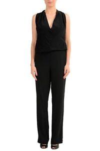 Maison-Margiela-1-100-Silk-Black-Open-Back-Women-039-s-Jumpsuit-US-s-IT-40