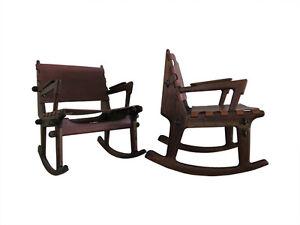 Mid century modern rocking chairs by angel pazmino muebles de estillo eames era ebay - Muebles eames ...
