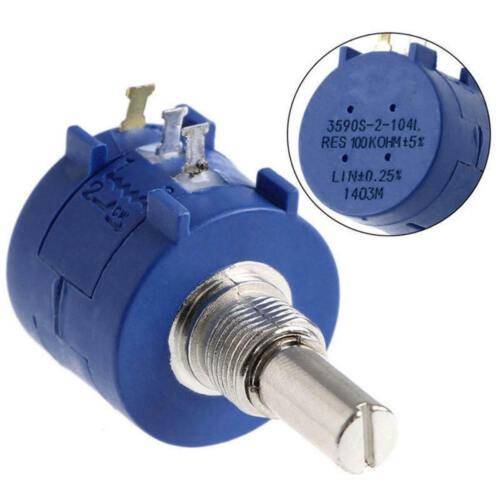 3590S-2-104L 100K Ohm Drehdrahtgewickelte Präzision Potentiometer Topf 10 Drehen