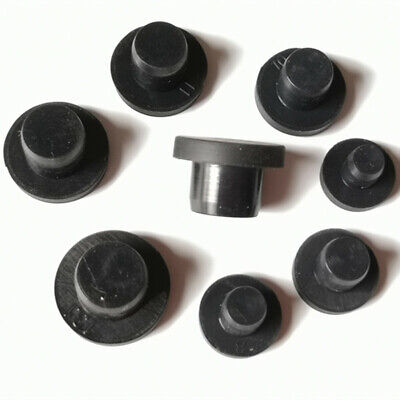 Gray Silicone Rubber Hose Blanking End Cap Inserts Seal Plug Bung Hole Stopper