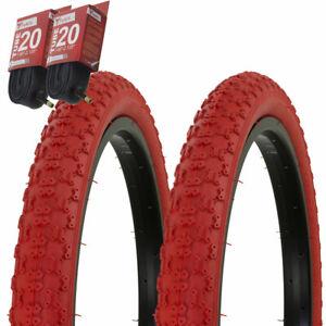 "1PAIR!Duro Bicycle Bike Tires /& Tubes 20/"" x 1.75/"" Red Side BMX Bike Tire"