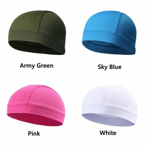 Men Woman Skull Cap Quick Dry Sports Sweat Beanie Hat Great Cycling Dome Caps