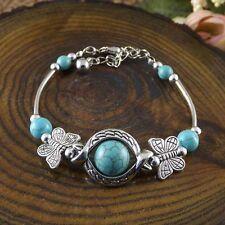 NEW Free shipping Jewelry Tibet silver jade turquoise bead DIY bracelet S275