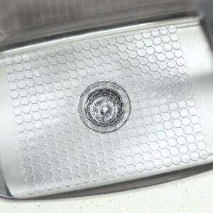 Kitchen Sink Protector Mat Non Slip Drainer Mat Durable Plastic Clear Ebay