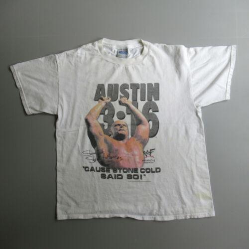 Vintage Stone Cold Steve Austin Shirt 1998 WWF Lar