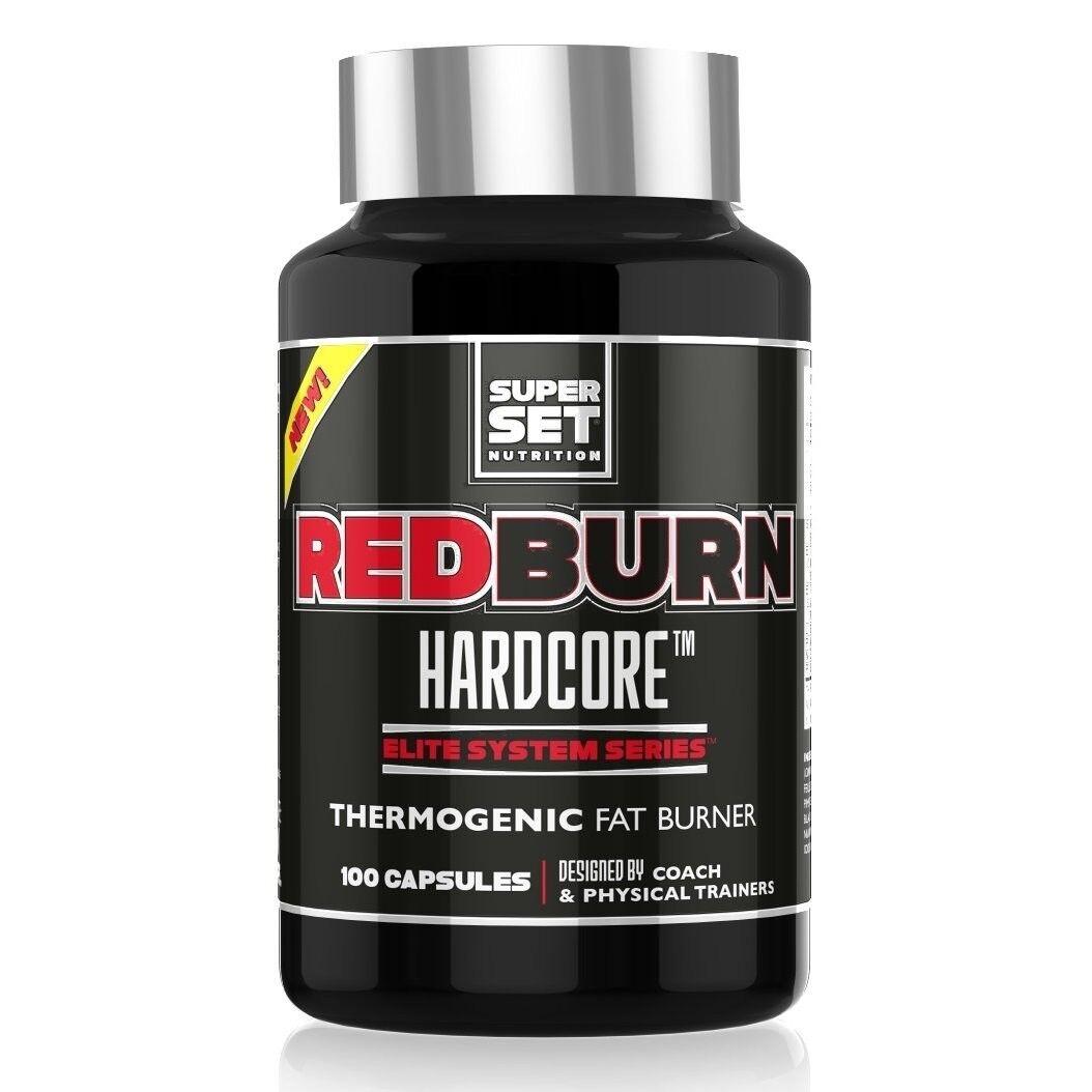 Quemador de grasa potente rojoburn Hardcore Superconjunto Nutrition 100 cápsulas