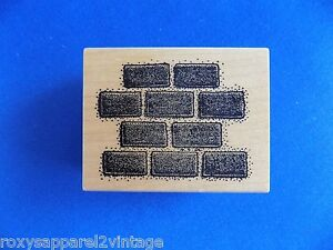 Block-Wall-Wood-Mounted-Rubber-Stamp-Gently-Used-Mail-Expressions-439G