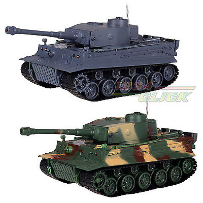 New Radio Remote Control 1:26 German Tiger With Sounds Grey RC Tank Ready To Go