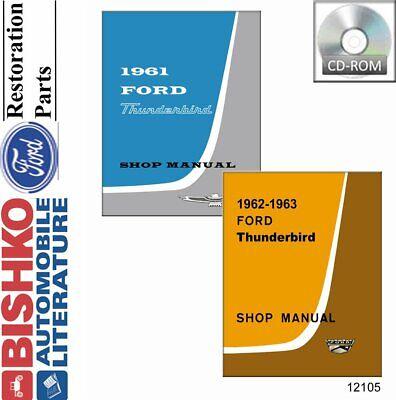Bishko OEM Repair Maintenance Shop Manual Bound for Ford Thunderbird 1962-1963