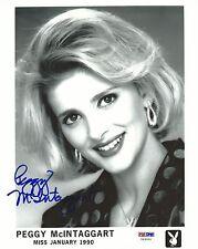Peggy McIntaggart Signed Playboy 8x10 Photo PSA/DNA COA Playmate Headshot Auto'd