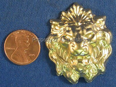6pc Raw Brass Lion King of the Jungle Face Finding 6915
