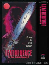 RCA Columbia VHS Leatherface Texas Chainsaw Massacre 3 1990 Horror Slasher Cult