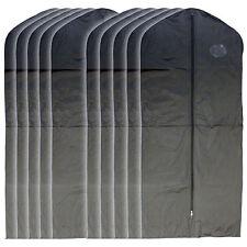 """New 10 PCS Garment Bag for suit, dress black 54 """" w/ transparent window"""