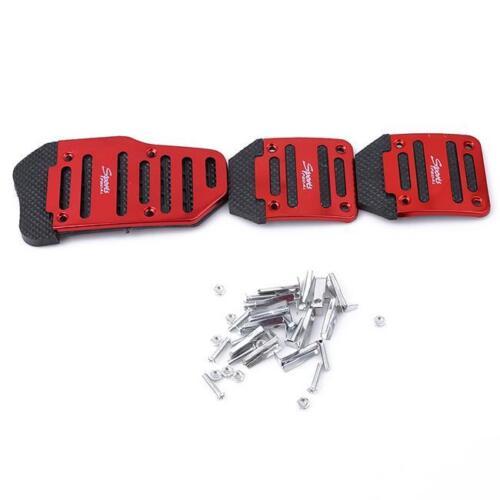 3Pcs Universal Sport Non-Slip Aluminum Manual Car Pedals Pad Set N7