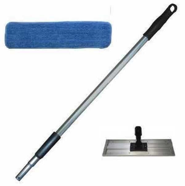 18  Microfiber Maintenance Mop Kit, with 3-18  Pads, 1-18  Frame & 1 Mop Handle