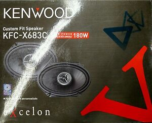 Kenwood Excelon KFC-X683C x2-way car speakers at