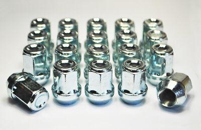 zinco 4 x m14 x 1.5 21mm Hex Alloy Dadi Delle Ruote