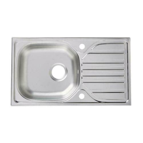 Small Single 1 Bowl Kitchen Stainless Steel Sink Sinks Plumbing Home Reversible