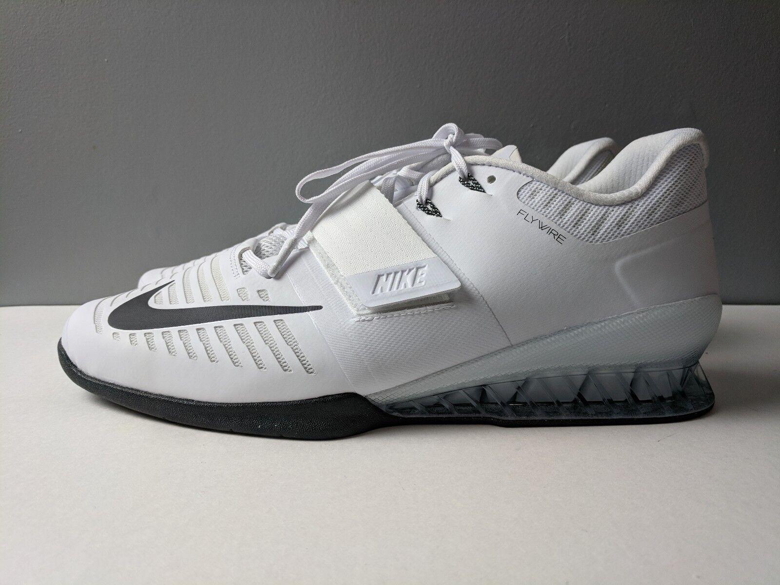 Nike hombre blanco romaleos 3 halterofilia zapatos blanco hombre negro comodo bff341