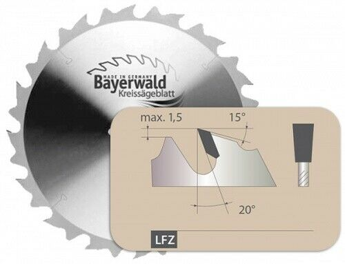 HM Kreissägeblatt - Ø 500 mm x 3,8 mm x 30 mm   Z=22 LFZ I
