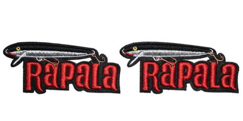 2 small RAPALA Original Floater Embroidered iron on Patch for bags and vast