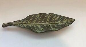 Virginia-Metal-Crafter-Tray-Metal-Brass-Trinket-Dresser-Holder-Leaf-FH-1