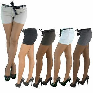 Hot-Pants-Hotpants-Capri-Shorts-Bemuda-Kurze-Hueft-Stretch-Hose-Sommerhose-103