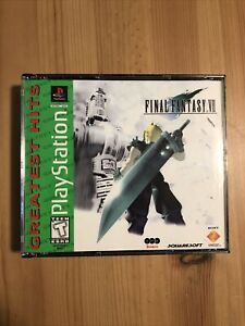 Final Fantasy VII (PS1, 1997) Greatest Hits Complete In Case With Manual