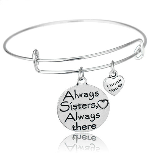 Delicate Silver Bangle Between Mom Son Daughter Love Jewelry Teacher Lovers Gift