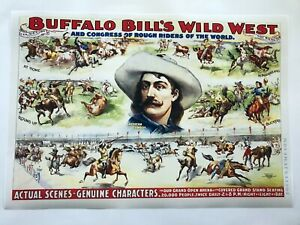 XL-HI-Q-Facsimile-of-1896-Buffalo-Bill-039-s-Wild-West-Show-Poster-Rough-Riders