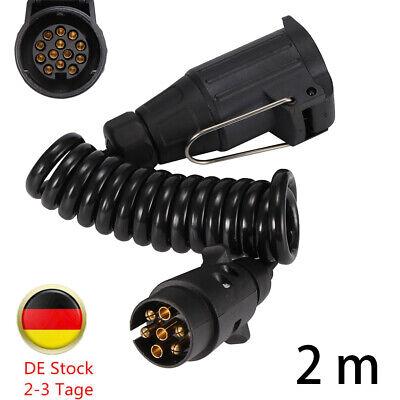 Verlängerungskabel 3,5m Spiralkabel Stecker 13-polig Kabel Anhänger PKW Trailer