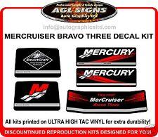 Mercruiser Bravo three 3 Outdrive Decal Kit  twin prop reproductions mercury