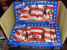 1996 Starting Lineup USA Olympic Basketball Complete Set 1 & 2 New In Box Mint