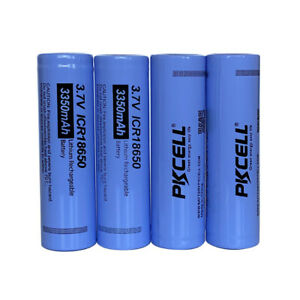 4x-ICR18650-New-Battery-3-7V-3350mAh-Li-ion-Rechargeable-Battery-Flat-Top-PKCELL