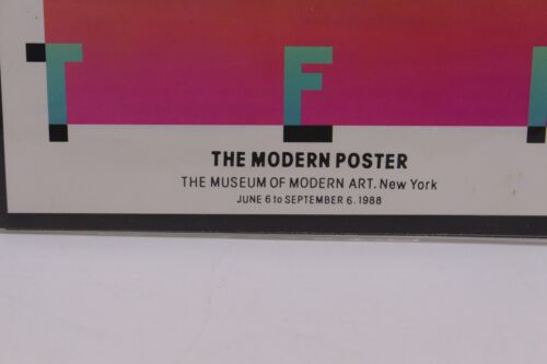 THE MODERN POSTER THE MUSEUM OF MODERN ART 1988 POSTCARD