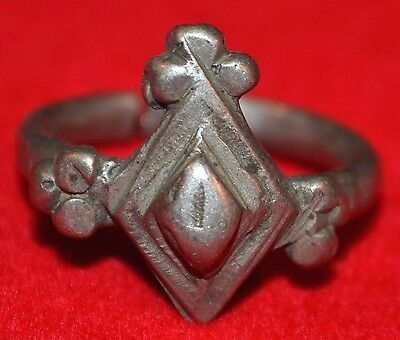 Antique African Fulani Ethnic Tribal Metal Ring Mali, Africa - Ring Size 8 1/2