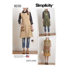 Simplicity Sewing Pattern Misses Dottie Angel Apron Dress & Tabard XS-XL | 8230A