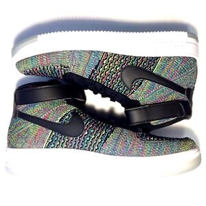 49fb301b6fb5 Details about New Nike Men Sz 11.5 Air Force 1 FlyKnit Mid Multi Color 2.0  817420 601  150