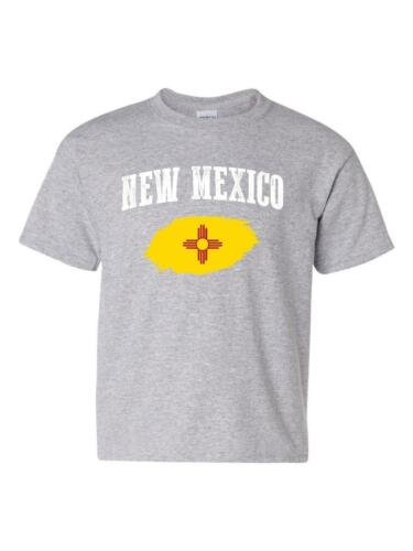 New Mexico State Flag University of New Mexico  American Unisex Youth Shirts