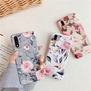 For-Huawei-P30-P20-Lite-Mate-20-PRO-Elegant-Art-Flowers-Pattern-Soft-Phone-Cases