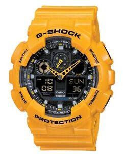 Casio G Shock *GA100A-9A XL Bumblebee Gloss Yellow Gshock Watch COD PayPal