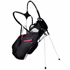 8-5-034-Golf-Stand-Cart-Bag-Club-5-Way-Divider-Carry-Organizer-Pockets-Storage-New