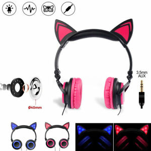 Foldable-Cat-Ear-Headphone-LED-Music-Lights-Wired-3-5mm-Earphone-Headset-for-PC