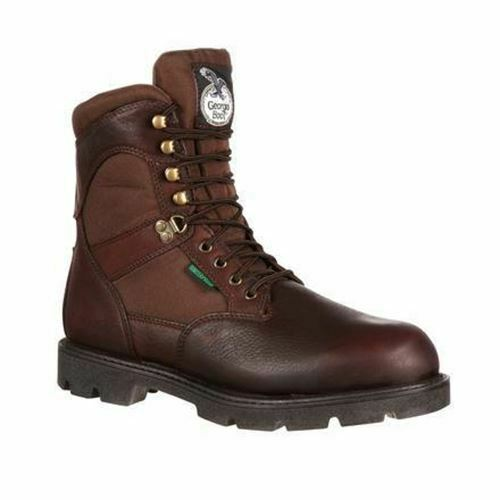 Georgia Men's Homeland Waterproof Insulated Work Boots Dark Brown G109