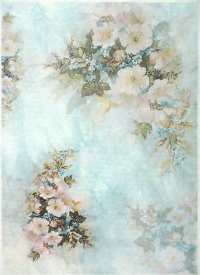 Rice Paper for Decoupage Scrapbook Crafting Flowers Wallpaper Pattern 572