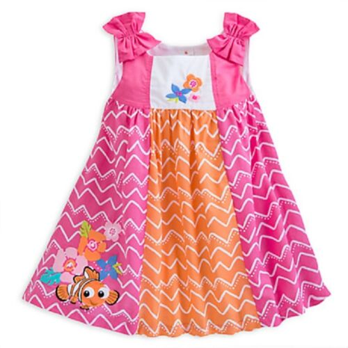 DISNEY STORE FINDING NEMO WOVEN DRESS NWT MATCHING BLOOMERS BABY BRIGHT COLORFUL
