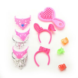 40-pcs-Set-Jewelry-Necklace-Earring-Comb-Shoes-Crown-Accessory-For-Dolls